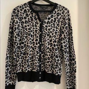 Black and white cheeta print cardigan (NEVER WORN)